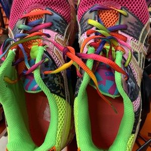 ASICS Colorful Running Shoes sz 7